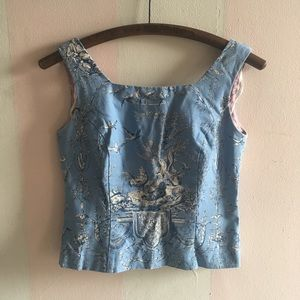 Vintage- THE loveliest French inspired crop shell